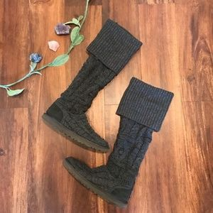 UGG Austra | Cardy Gray Knit Boots